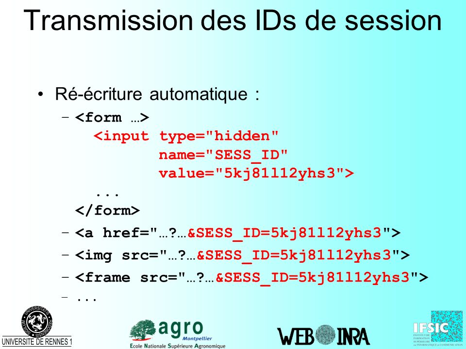 Transmission des IDs de session
