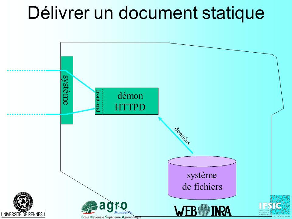Délivrer un document statique