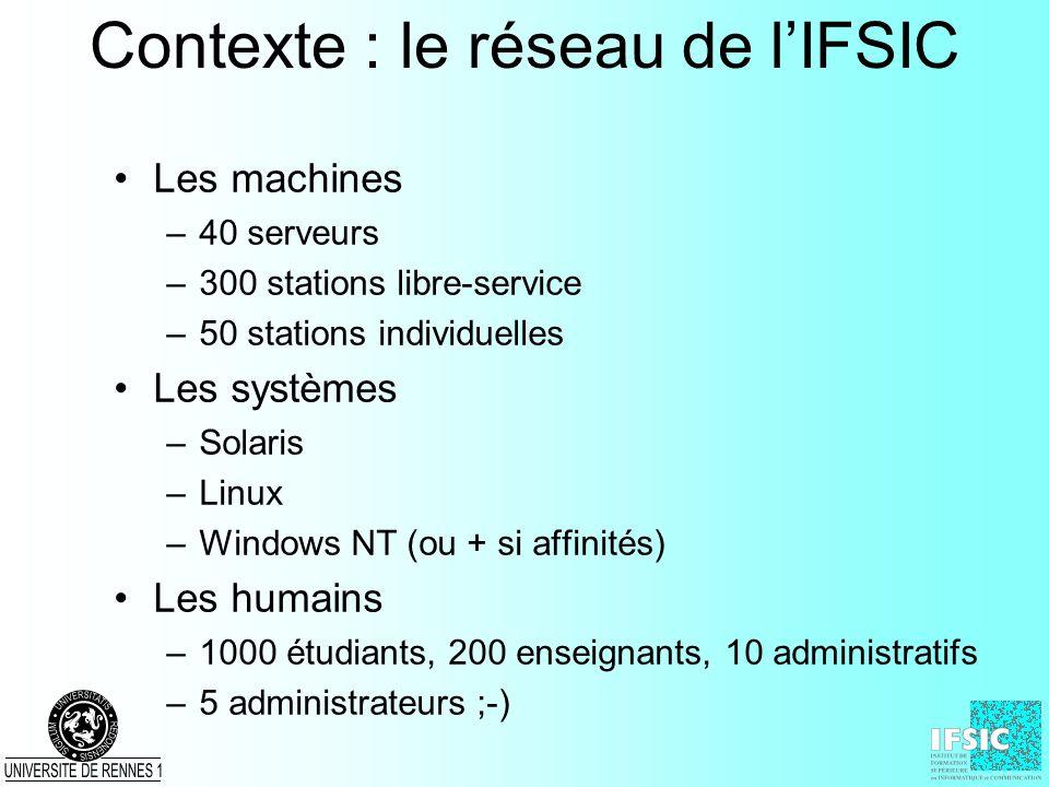 Contexte : le réseau de l'IFSIC