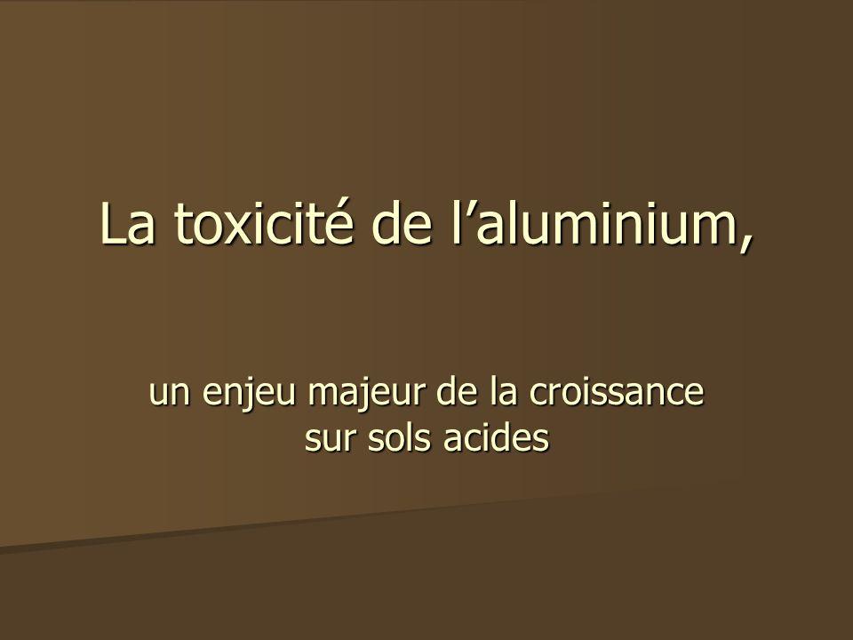 La toxicité de l'aluminium,