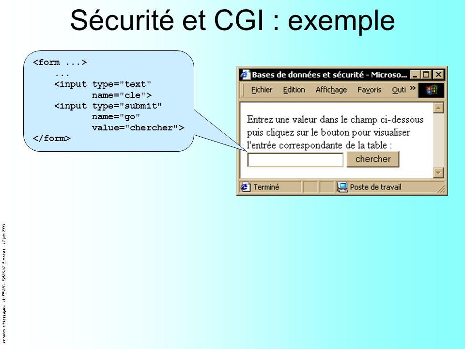 Sécurité et CGI : exemple