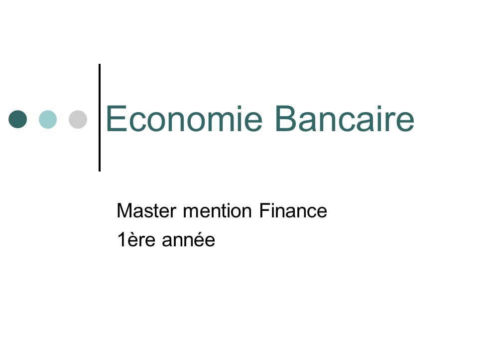 Master mention Finance 1ère année