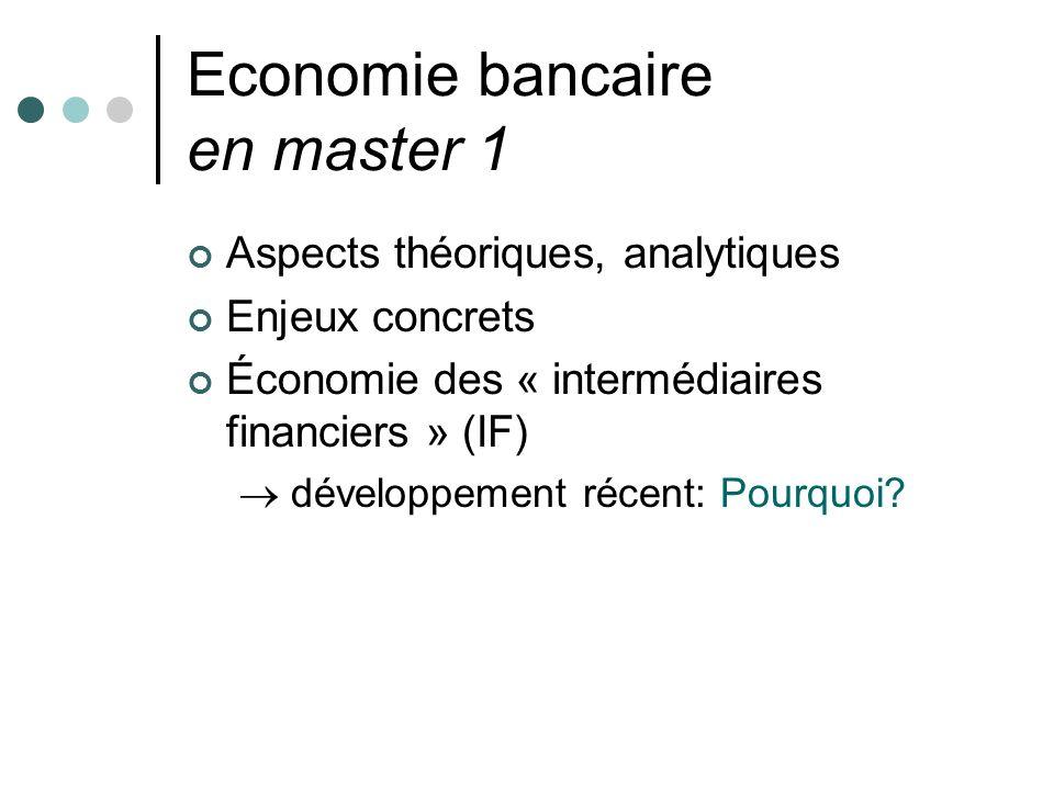 Economie bancaire en master 1