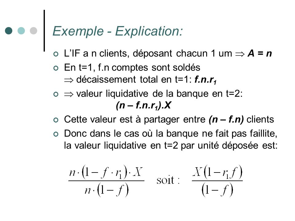 Exemple - Explication: