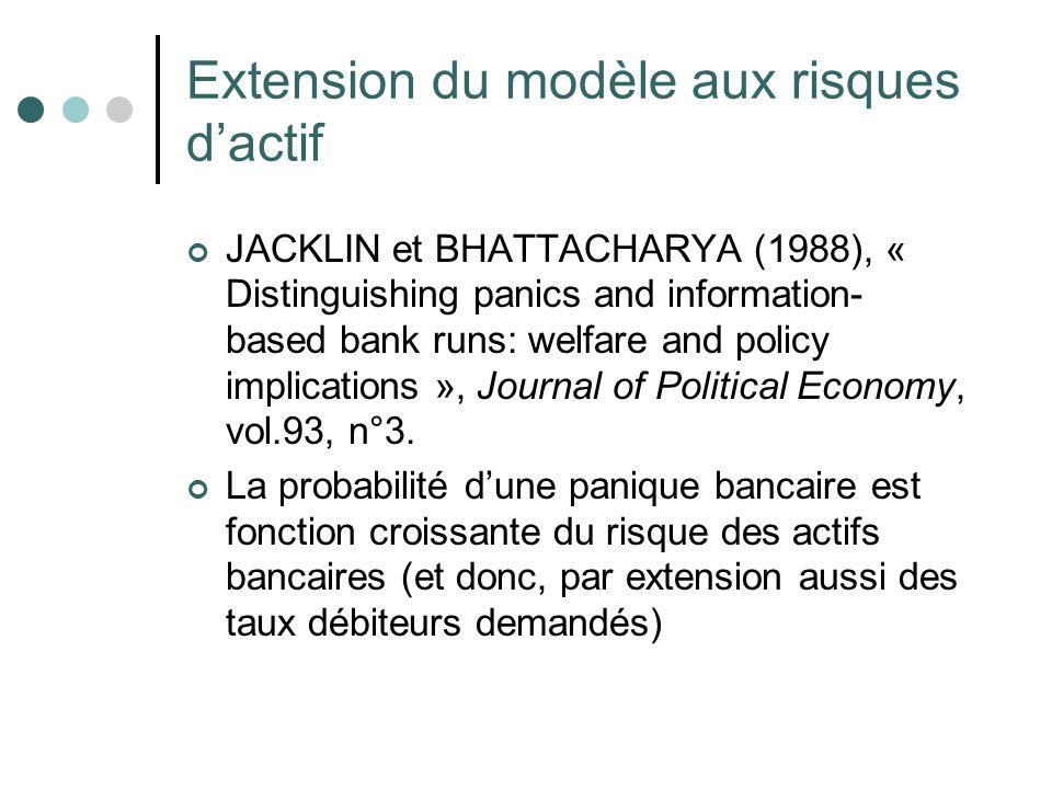 Extension du modèle aux risques d'actif