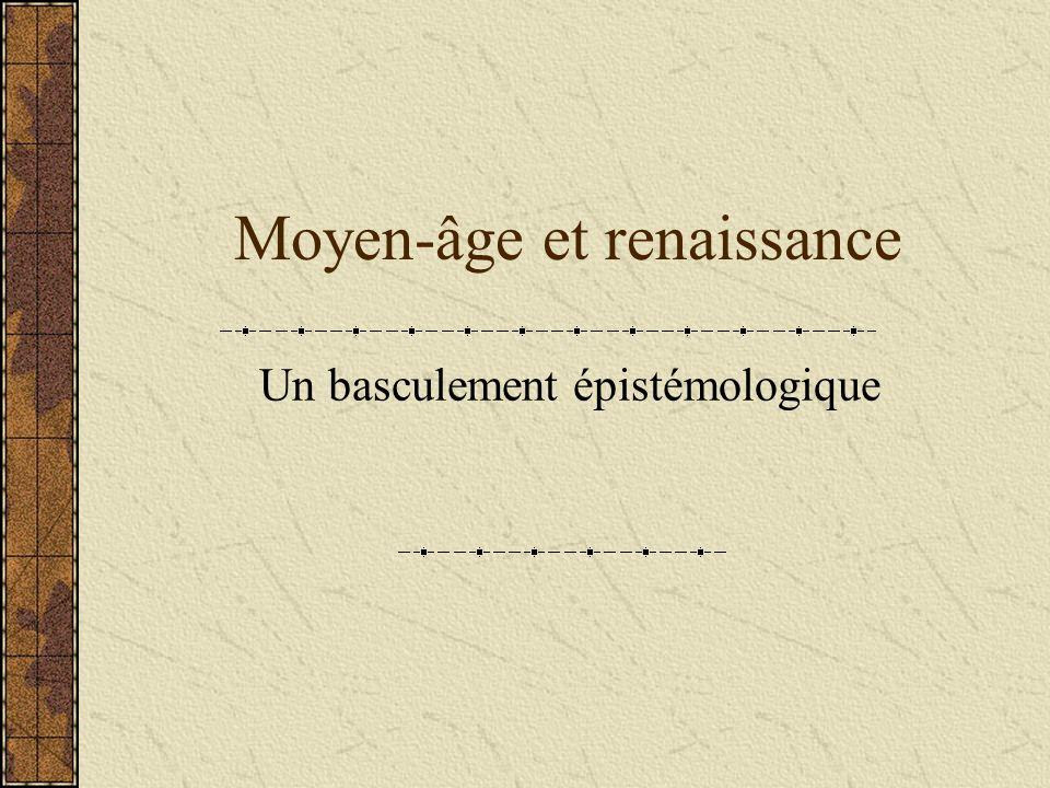 Moyen-âge et renaissance