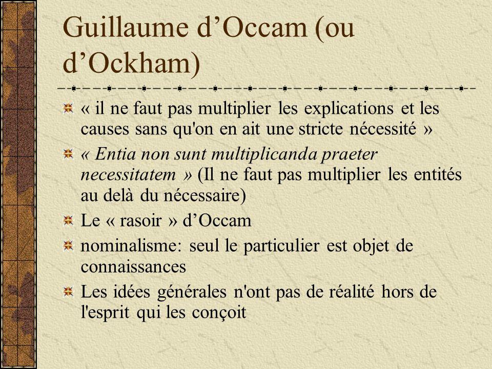 Guillaume d'Occam (ou d'Ockham)