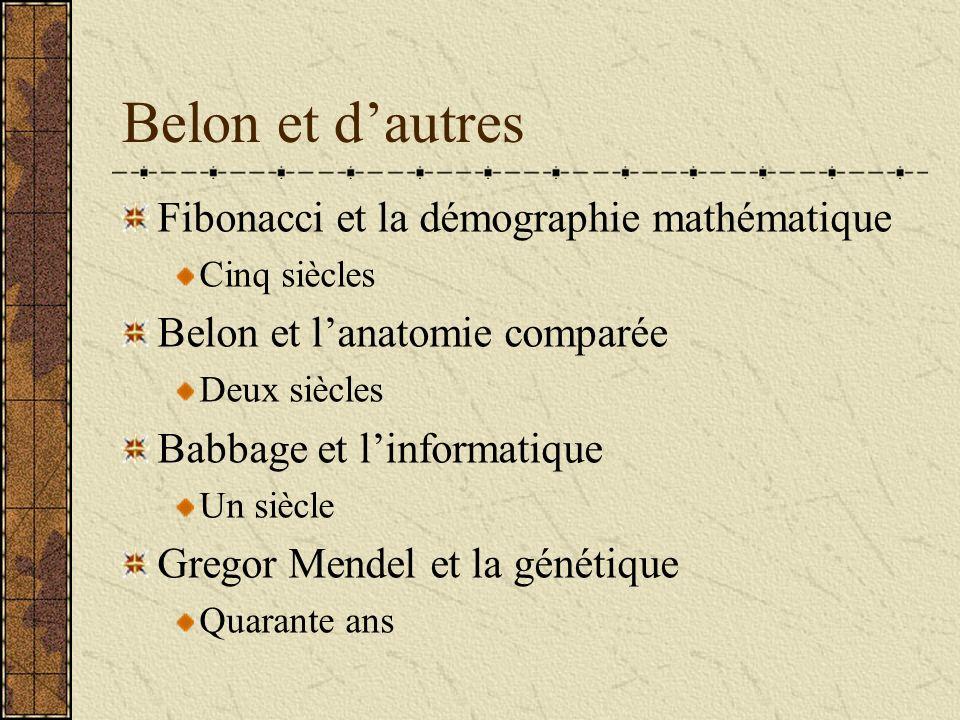 Belon et d'autres Fibonacci et la démographie mathématique