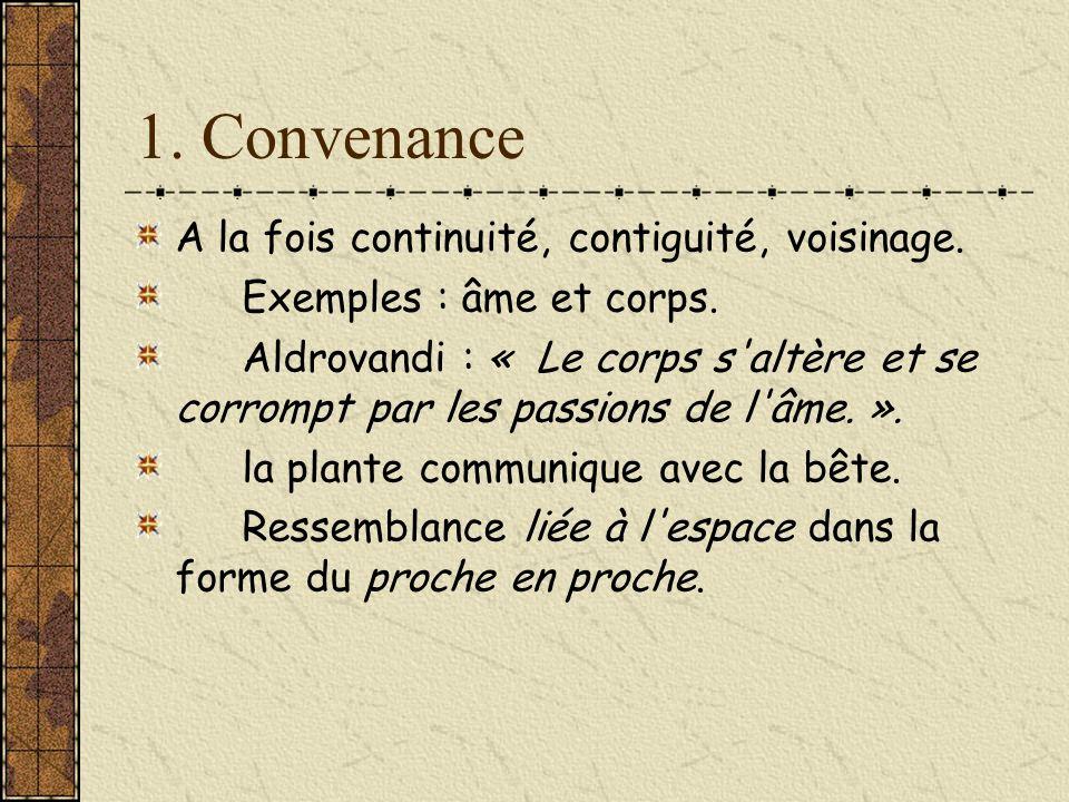 1. Convenance A la fois continuité, contiguité, voisinage.