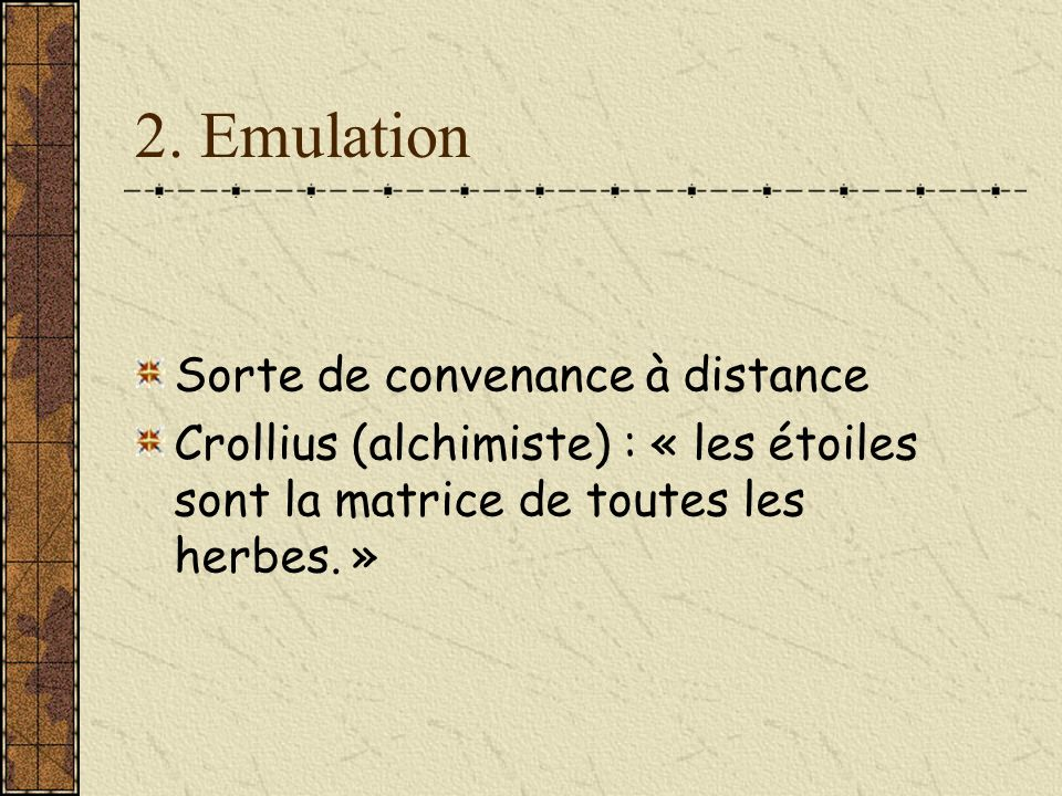 2. Emulation Sorte de convenance à distance