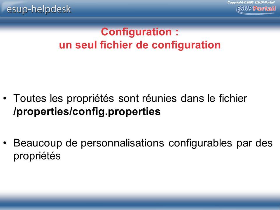 Configuration : un seul fichier de configuration