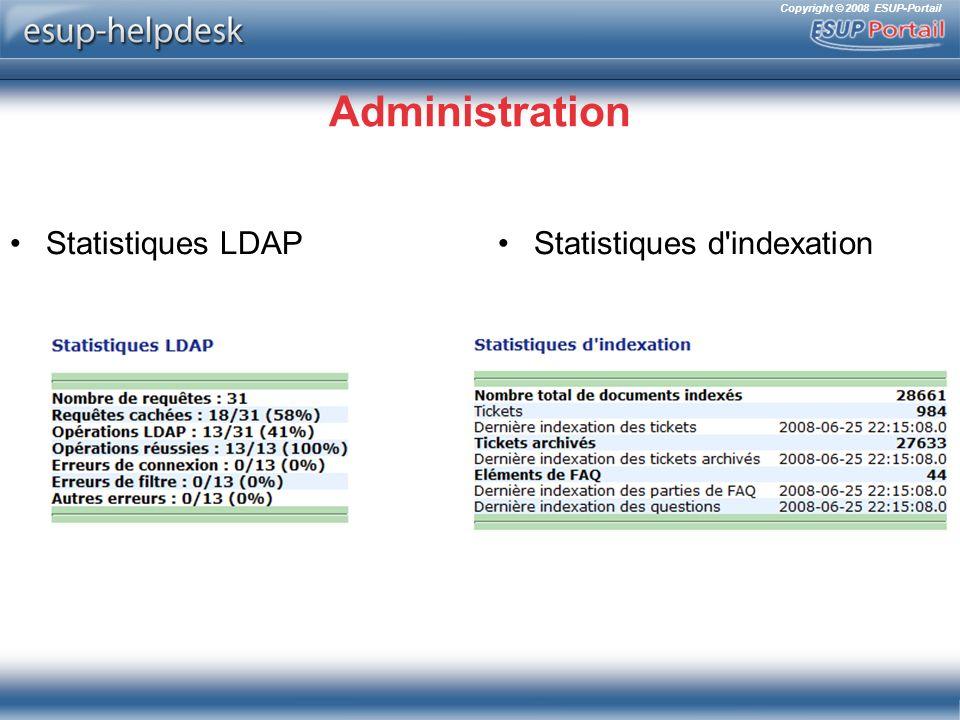 Administration Statistiques LDAP Statistiques d indexation