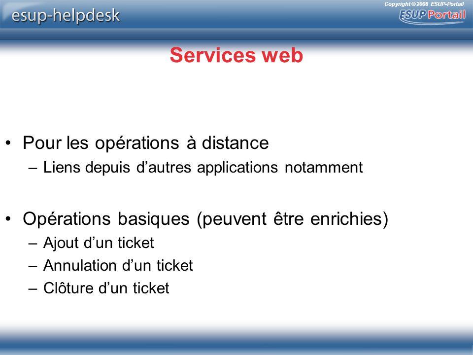 Services web Pour les opérations à distance