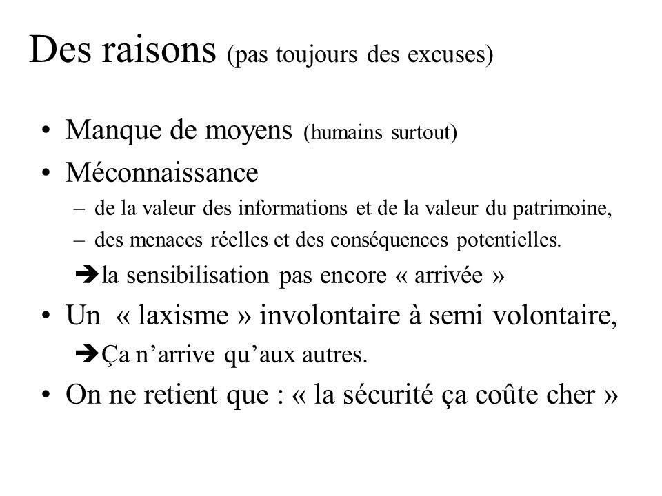 Des raisons (pas toujours des excuses)
