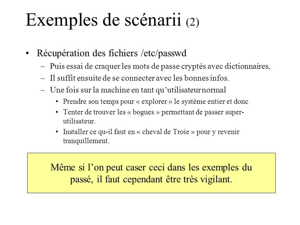 Exemples de scénarii (2)