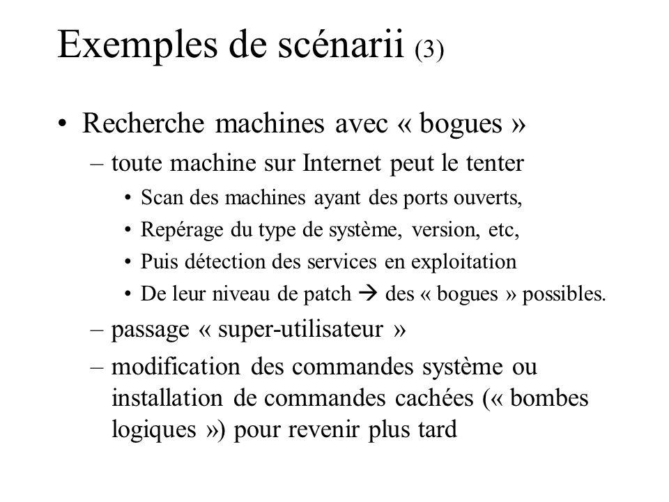 Exemples de scénarii (3)