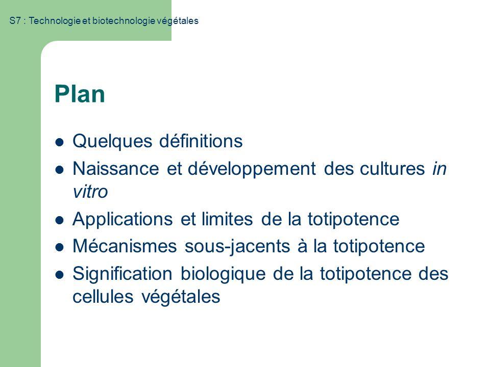 Plan Quelques définitions
