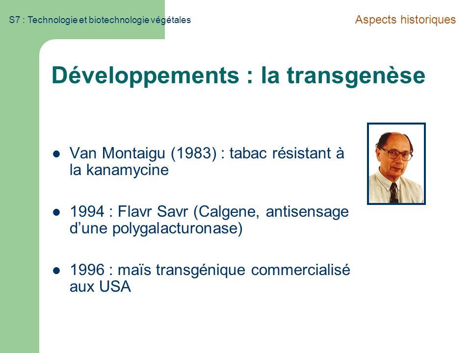 Développements : la transgenèse