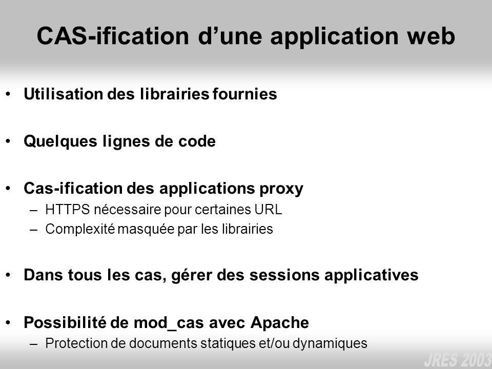 CAS-ification d'une application web