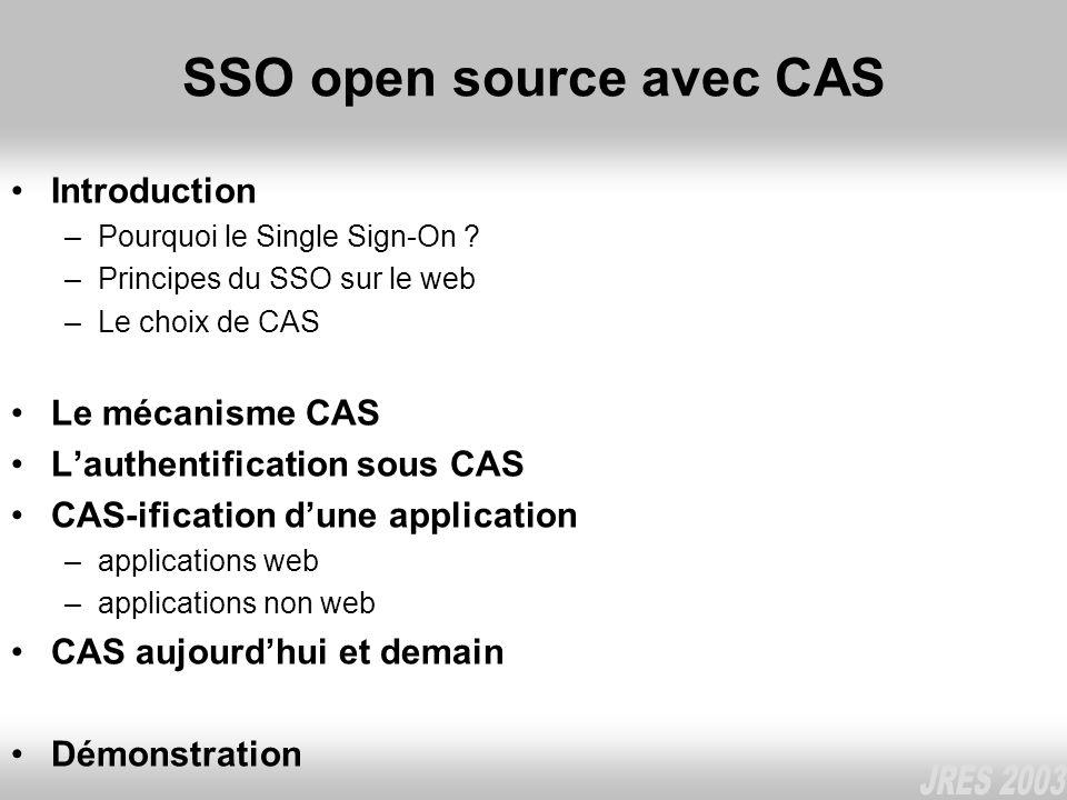 SSO open source avec CAS