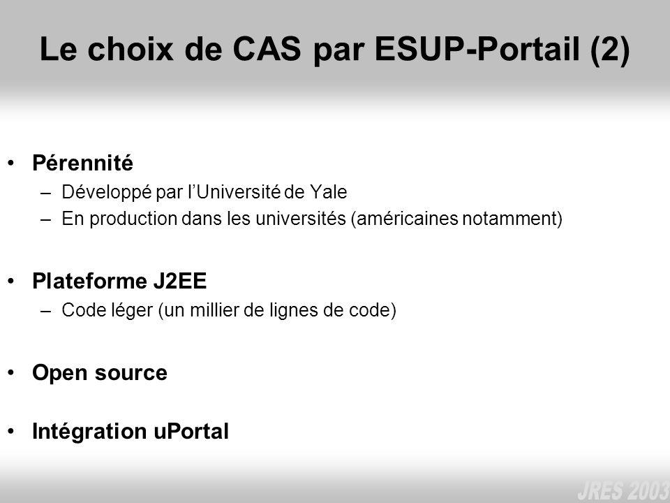 Le choix de CAS par ESUP-Portail (2)