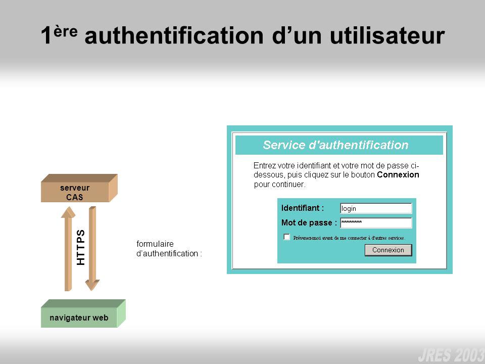 1ère authentification d'un utilisateur
