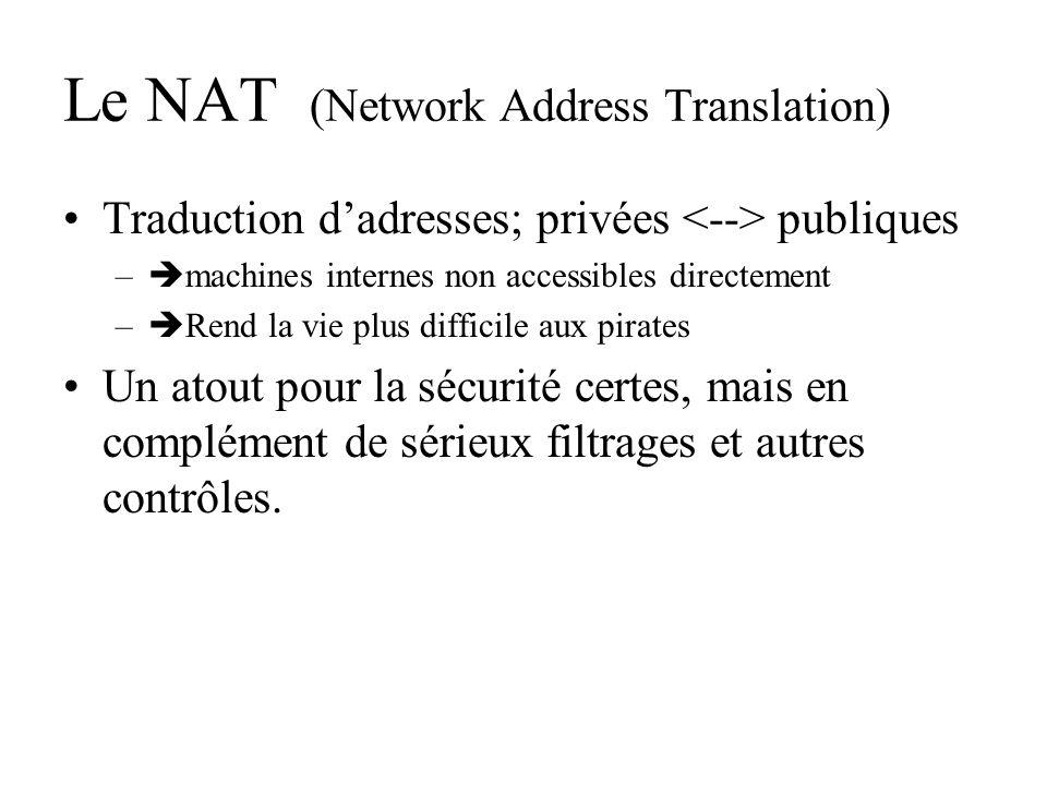 Le NAT (Network Address Translation)