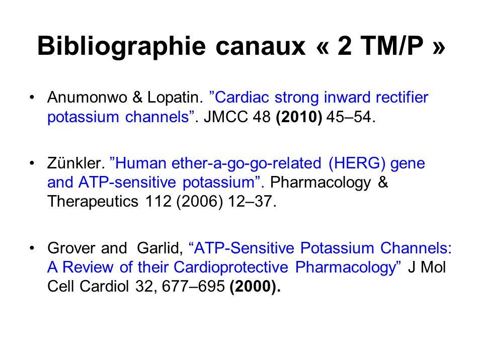 Bibliographie canaux « 2 TM/P »