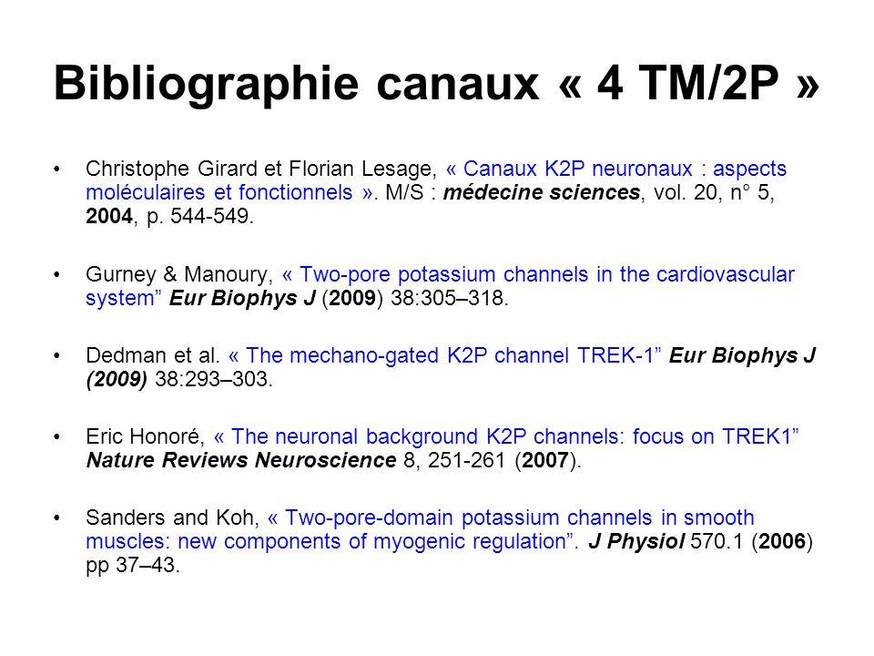 Bibliographie canaux « 4 TM/2P »