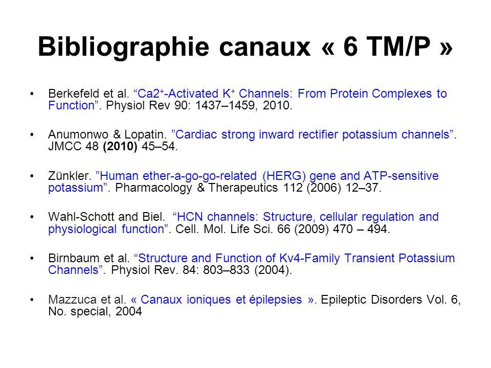 Bibliographie canaux « 6 TM/P »