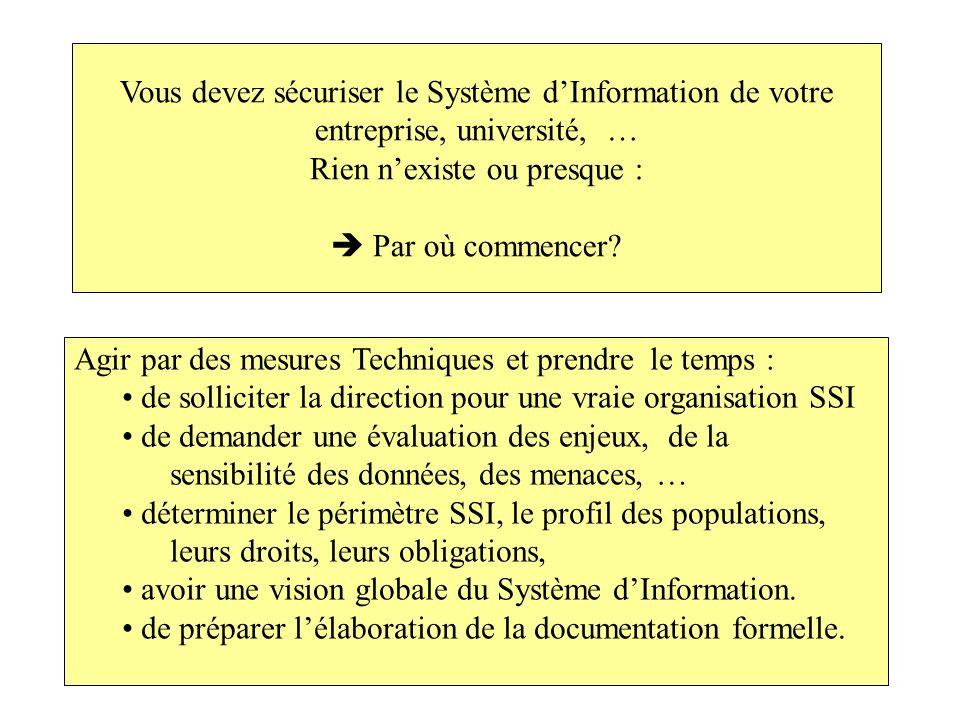Vous devez sécuriser le Système d'Information de votre