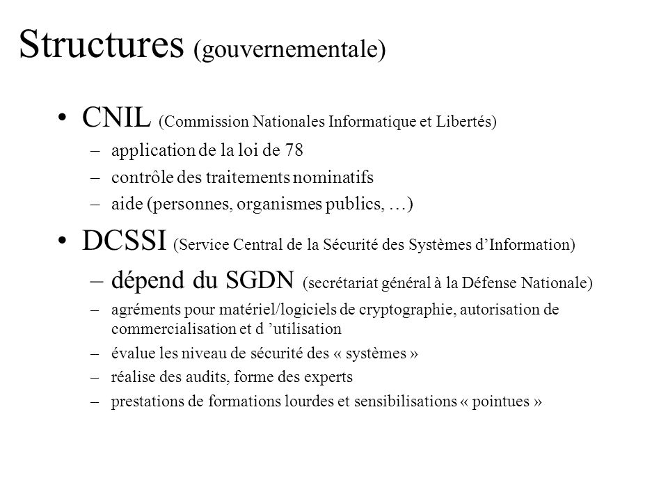 Structures (gouvernementale)