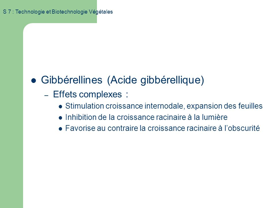 Gibbérellines (Acide gibbérellique)
