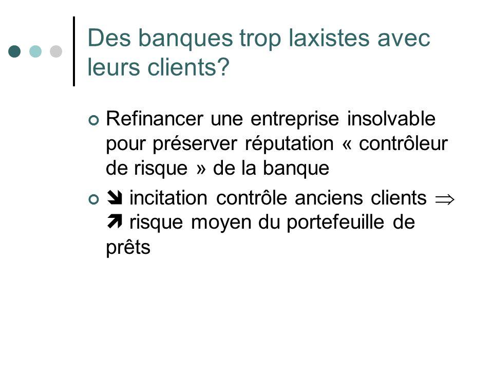 Des banques trop laxistes avec leurs clients