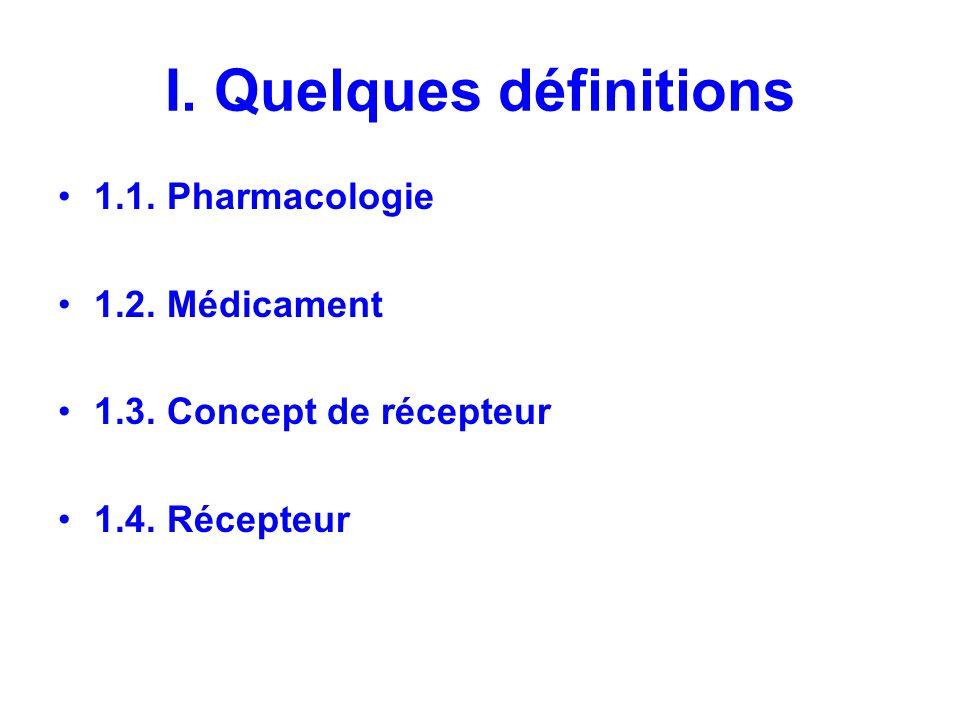 I. Quelques définitions