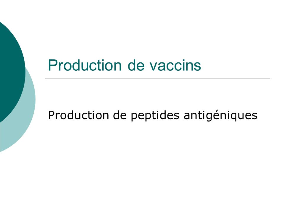 Production de peptides antigéniques