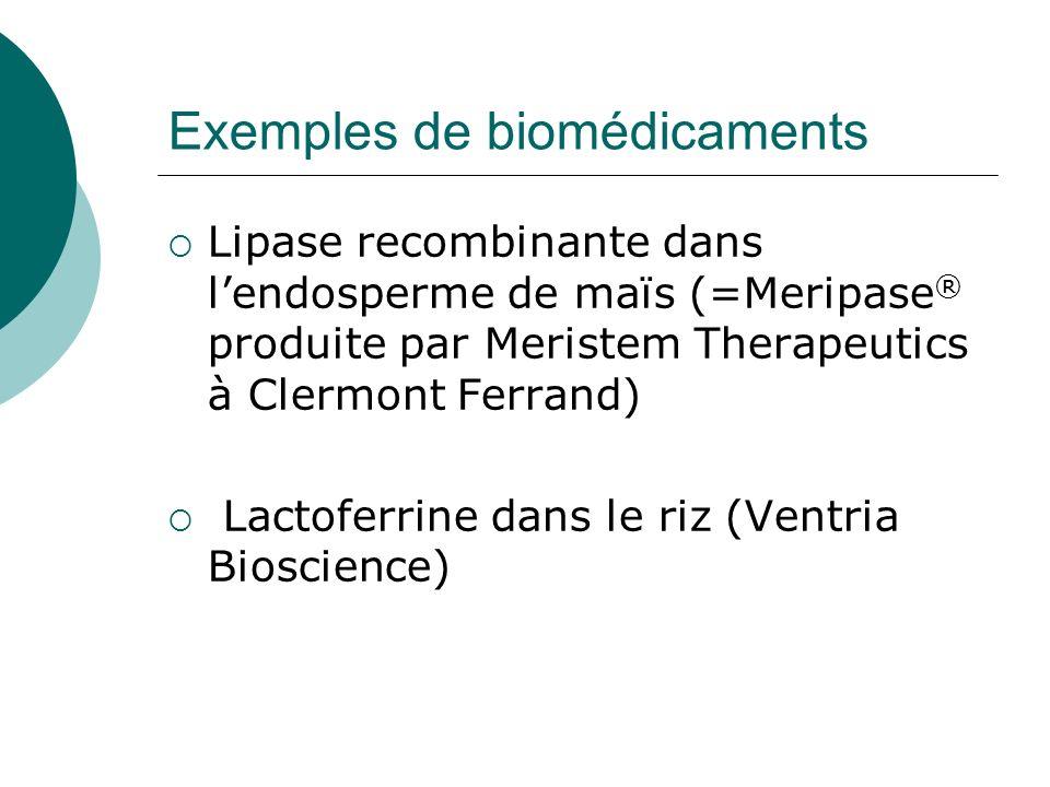Exemples de biomédicaments