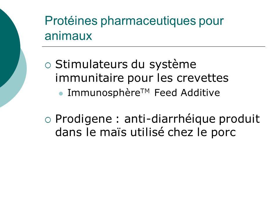 Protéines pharmaceutiques pour animaux