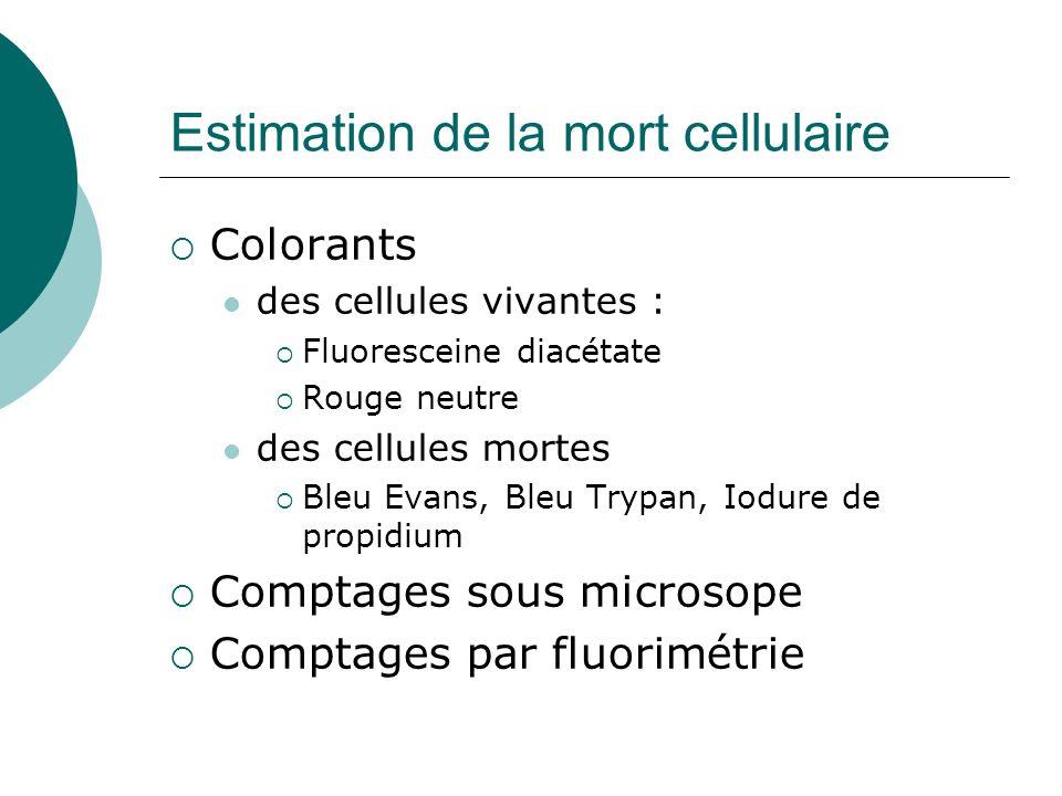 Estimation de la mort cellulaire