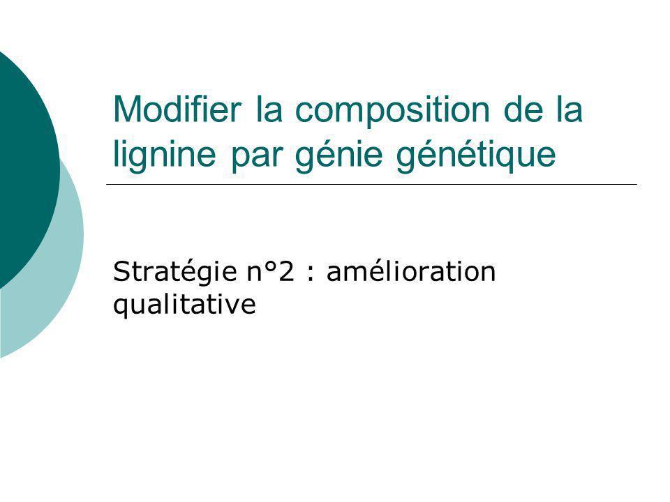Modifier la composition de la lignine par génie génétique