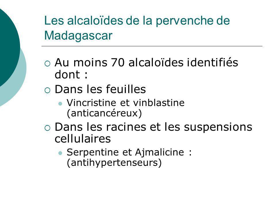Les alcaloïdes de la pervenche de Madagascar