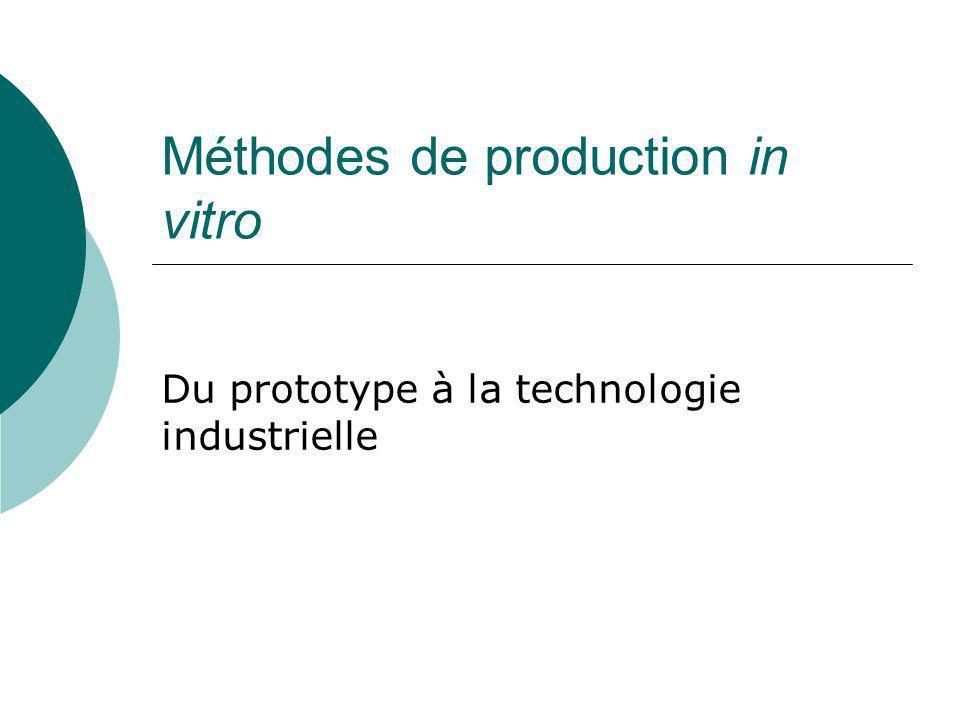 Méthodes de production in vitro