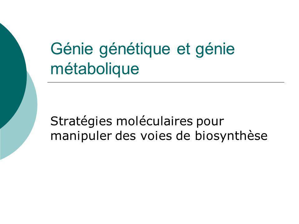 Génie génétique et génie métabolique