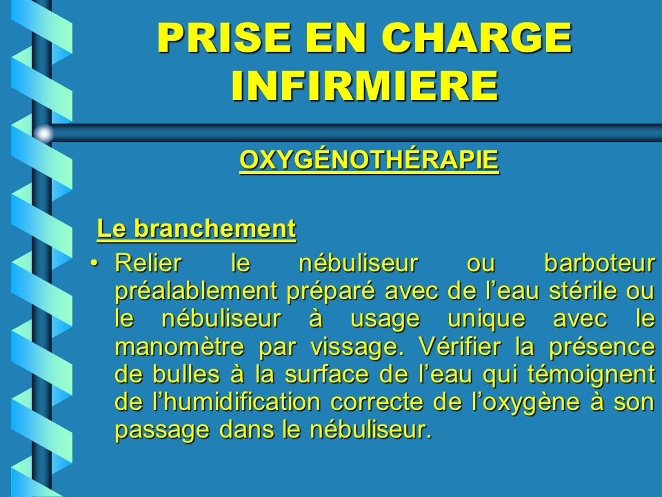 PRISE EN CHARGE INFIRMIERE
