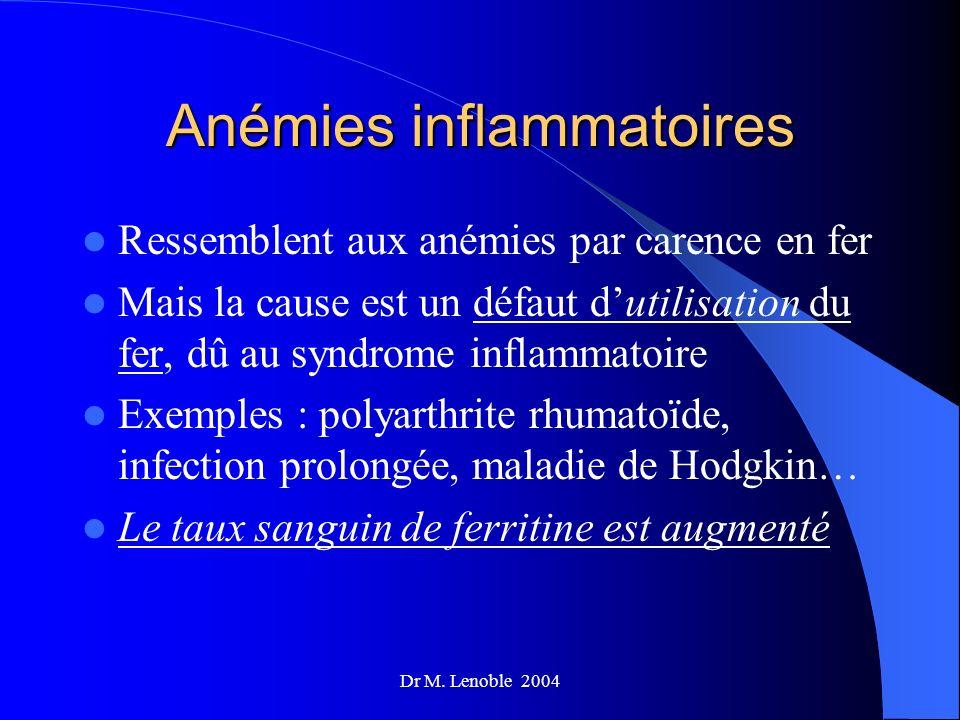 Anémies inflammatoires