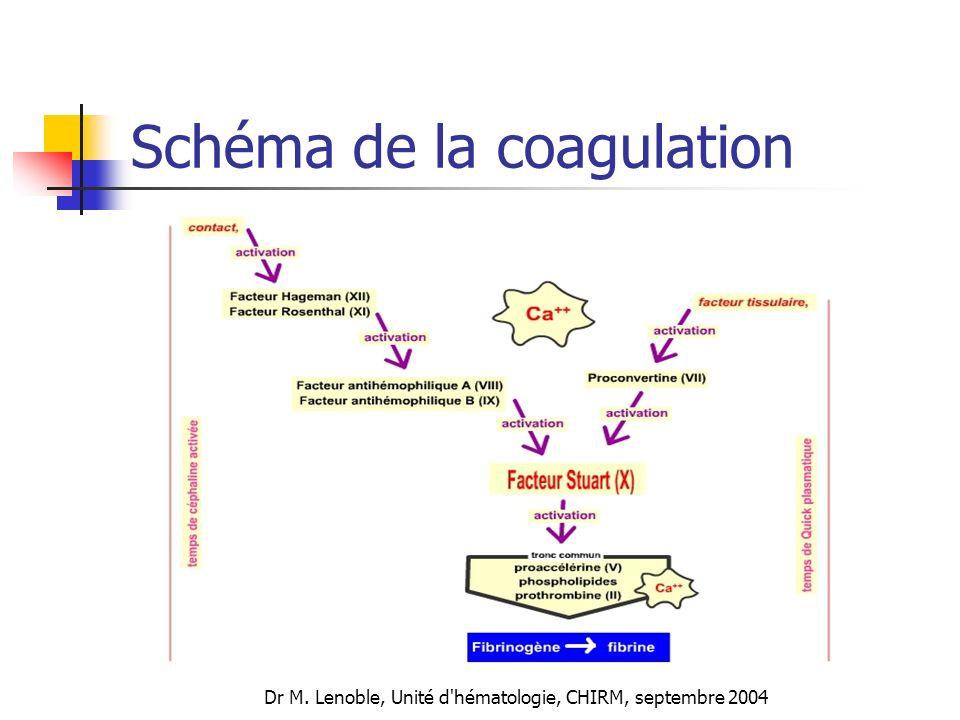 Schéma de la coagulation