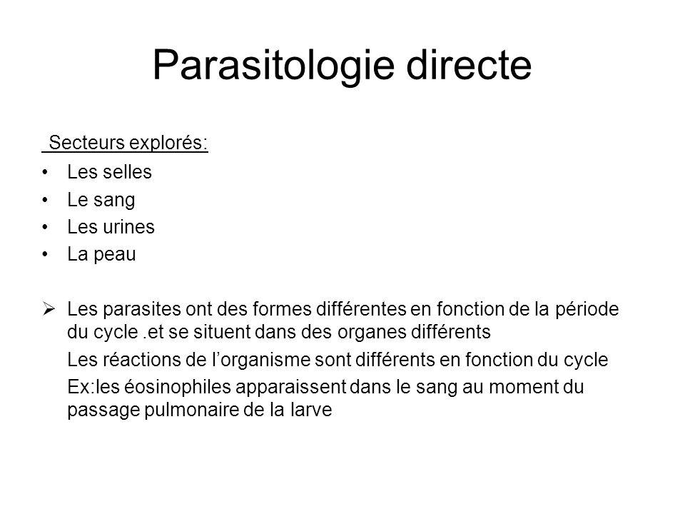 Parasitologie directe