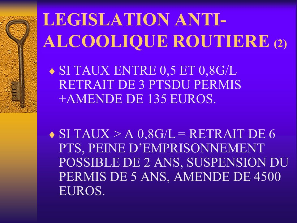 LEGISLATION ANTI-ALCOOLIQUE ROUTIERE (2)
