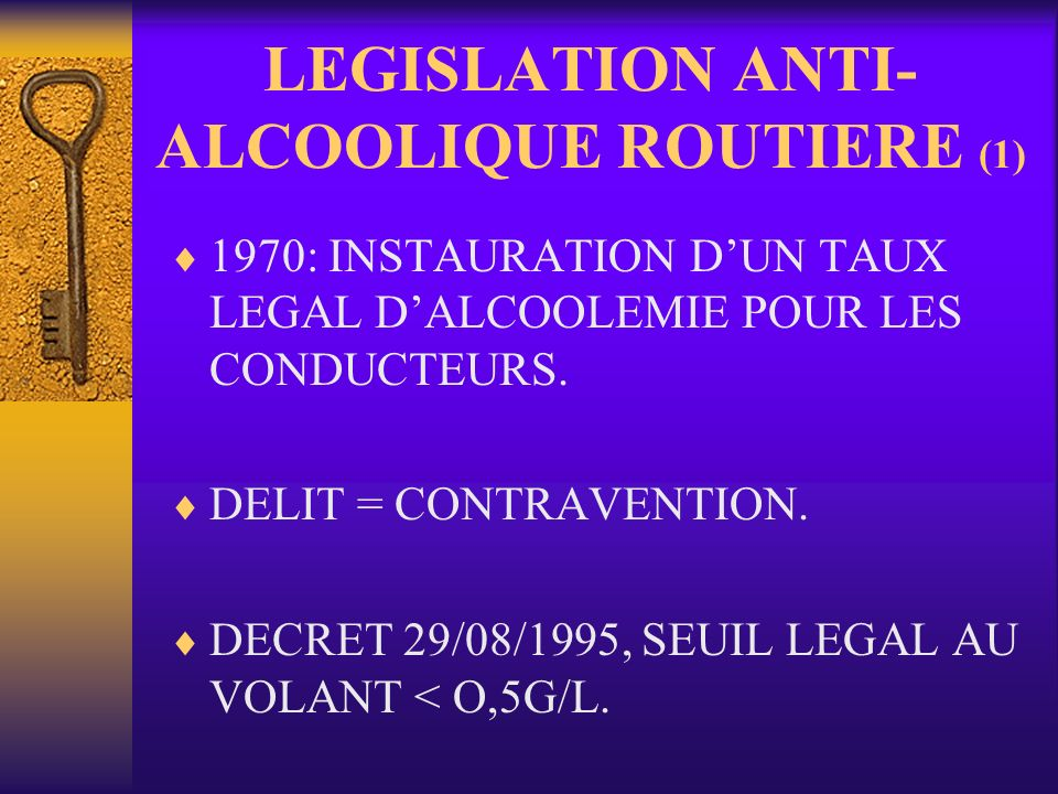 LEGISLATION ANTI-ALCOOLIQUE ROUTIERE (1)