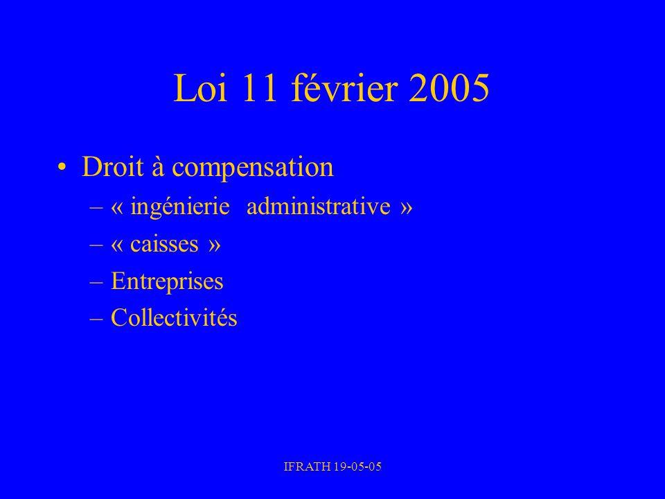 Loi 11 février 2005 Droit à compensation « ingénierie administrative »
